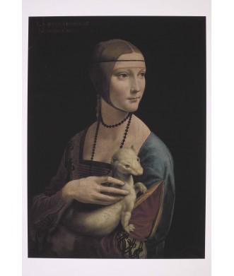 Reprodukcja - Dama z gronostajem, Leonardo da Vinci